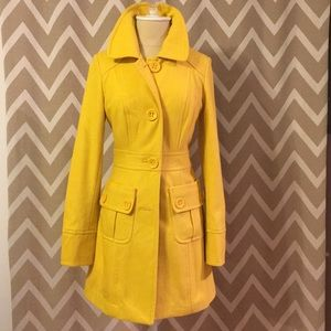 Jackets & Blazers - Yellow Peacoat